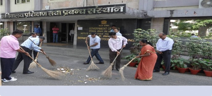 """<p><span style=""""font-size: x-small;""""><span style=""""color: rgb(128, 0, 0);""""><strong>Swatchh Bharat Mission-Special cleanliness drive by ISTM Officials on 25/09/2014</strong></span></span></p>"""