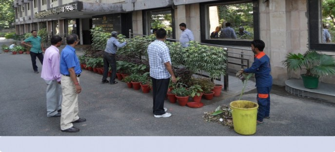 """<p><span style=""""font-size: x-small;""""><span style=""""color: rgb(128, 0, 0);""""><strong>Special cleanliness drive in the Seminar Hall &amp; Administrative Building held on 27/09/2014</strong></span></span></p>"""