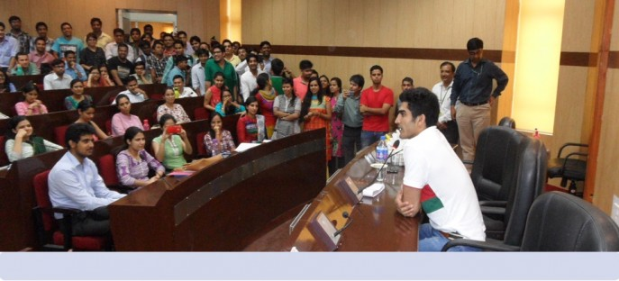 """<p><span style=""""font-size: small;""""><span style=""""color: rgb(128, 0, 0);""""><strong>Shri. Vijender Singh, the reputed boxer, delivered a lecture on Motivation - 19/06/2015</strong></span></span><span style=""""font-size: medium;""""><span style=""""color: rgb(128, 0, 0);""""><strong><br /> </strong></span></span></p>"""
