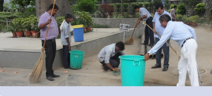 """<p><span style=""""font-size: small;""""><span style=""""color: rgb(128, 0, 0);""""><strong>Swachh Bharat Mission - Cleaning by Officers &amp; Staff of ISTM on 21.07.2015</strong></span></span><span style=""""font-size: medium;""""><span style=""""color: rgb(128, 0, 0);""""><strong><br /> </strong></span></span></p>"""