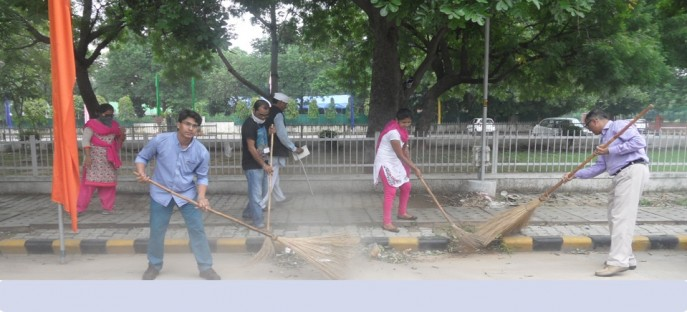 """<p><span style=""""font-size: small;""""><span style=""""color: rgb(128, 0, 0);""""><strong>Swachh Bharat Mission - Cleaning by Officers &amp; Participants of ISTM on 15.08.2015</strong></span></span><span style=""""font-size: medium;""""><span style=""""color: rgb(128, 0, 0);""""><strong><br /> </strong></span></span></p>"""