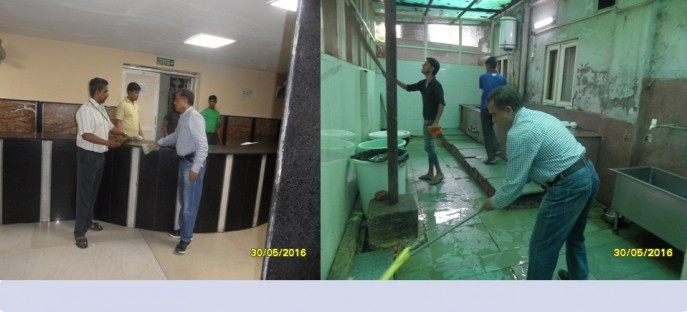 """<p><span style=""""font-size: medium;""""><span style=""""color: rgb(128, 0, 0);""""><strong>Swachh Bharat Mission in the Kitchen, Dining Hall at Hostel on 30.05.2016</strong></span></span><span style=""""font-size: medium;""""><span style=""""color: rgb(128, 0, 0);""""><strong><br /> </strong></span></span></p>"""