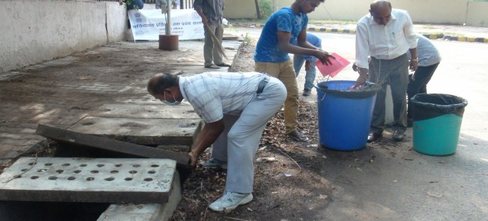 <p>Trainee officers, Faculty members, staff and residents of the colony  within the ISTM campus engaged in cleaning activity enthusiastically</p>