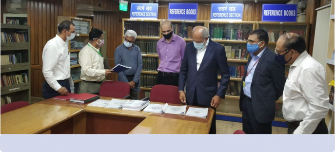 Visit to ISTM by Chairman, Members and Secretary, Capacity Building Commission on 08.09.2021