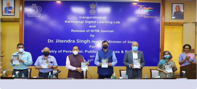 """<p><span style=""""font-size: small;""""><font color=""""#800000""""><b>Release of ISTM Journal on 27.08.2021 at ISTM by Honorable MoS(PP)</b></font></span></p>"""